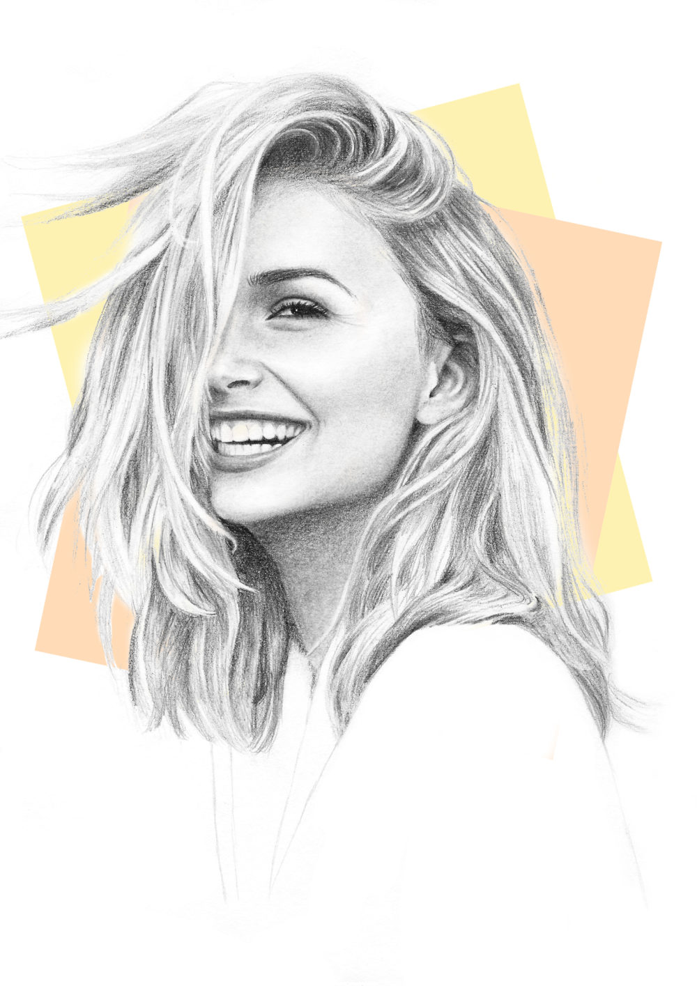 Pencil Portrait of Sophie Simnett