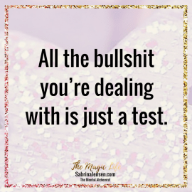 Trust: All the bullsh!t you're dealing with is just a test.