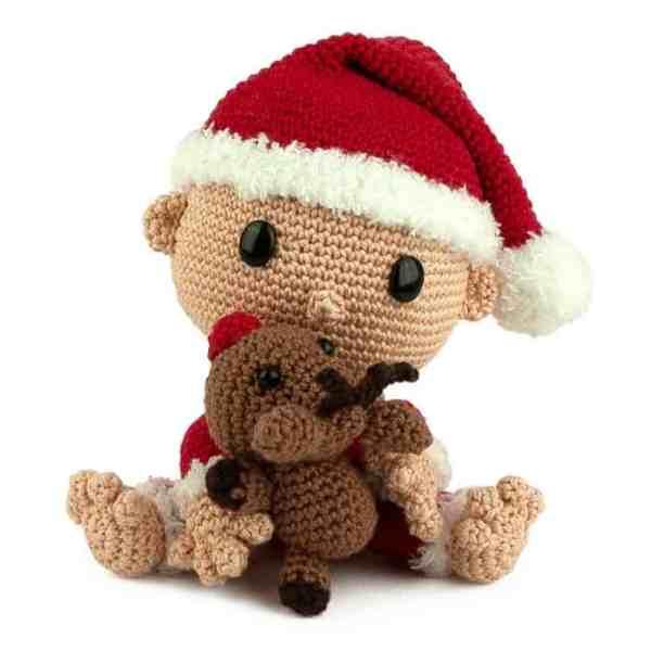 Hæklemønster Baby Julemand - Amigurumi