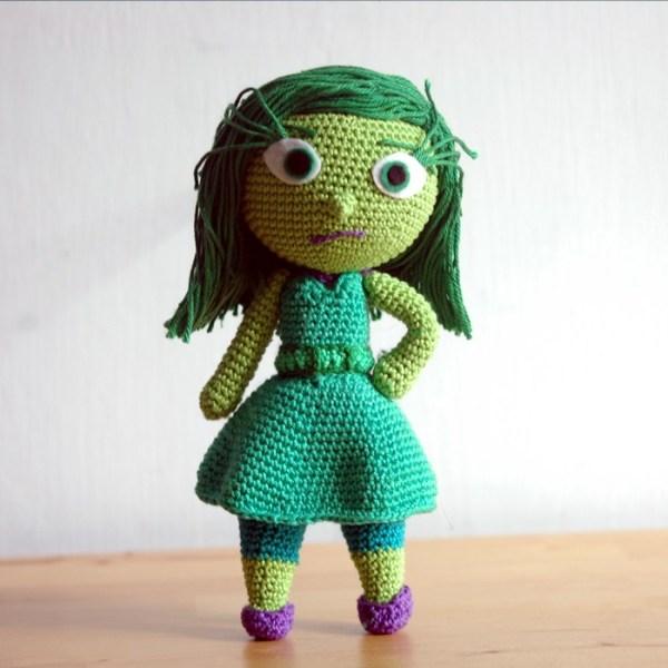 Crochet pattern Disgust - Inside Out - Amigurumi