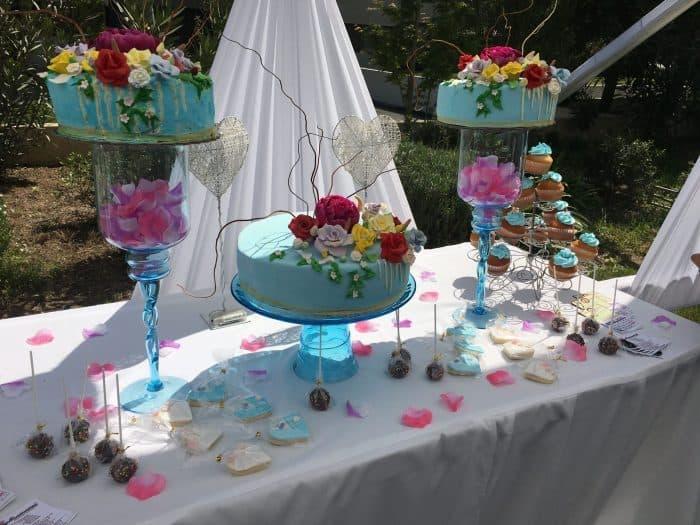 Torta para matrimonios Flores Fondant