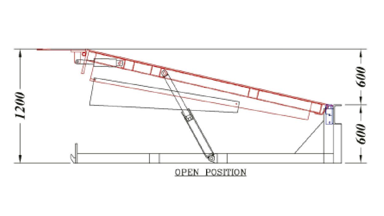 hight resolution of dock leveler open