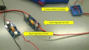 Battery mockup and regulators