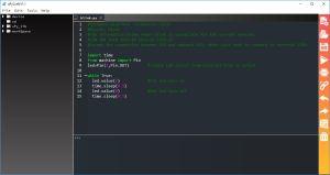The Blink program in uPyCraft
