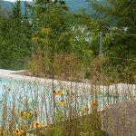 Aménagement naturel du Geos Spa de l'hôtel Sacacomie.