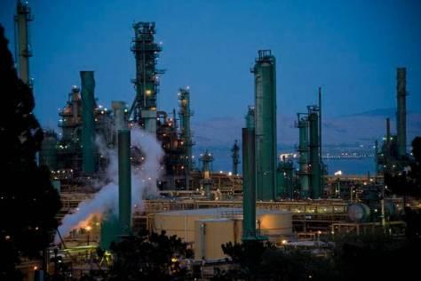 The Valero refinery in Benicia.