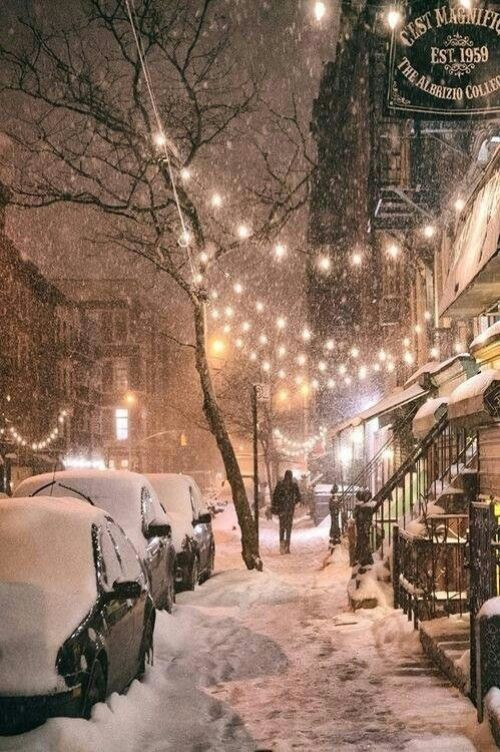 Snowing in NYC