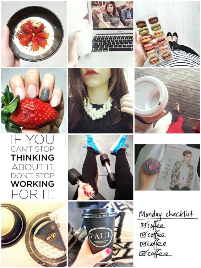 instagram, strawberries, macarons, coffee, fitness, fashion, food, cupcake