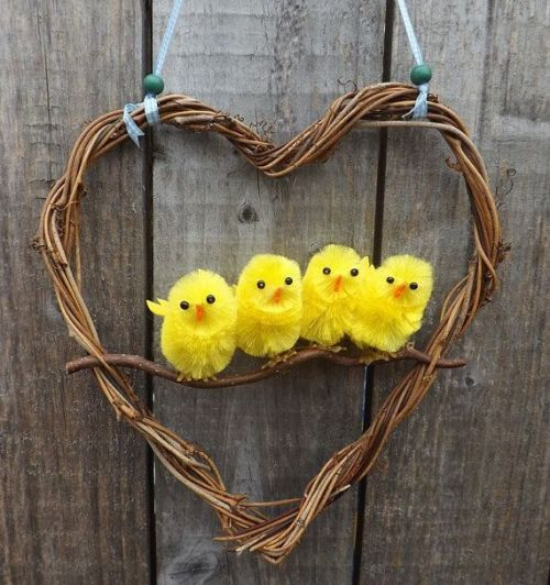 easter chicks, chicken, easter decoration, happy easter