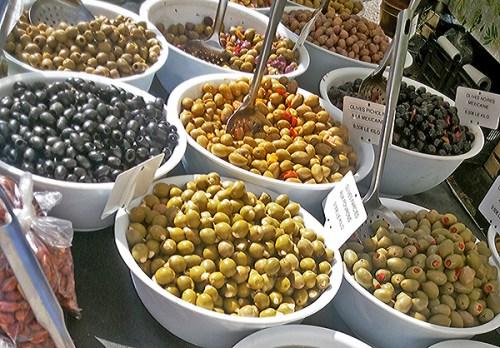 olives, south of france, market