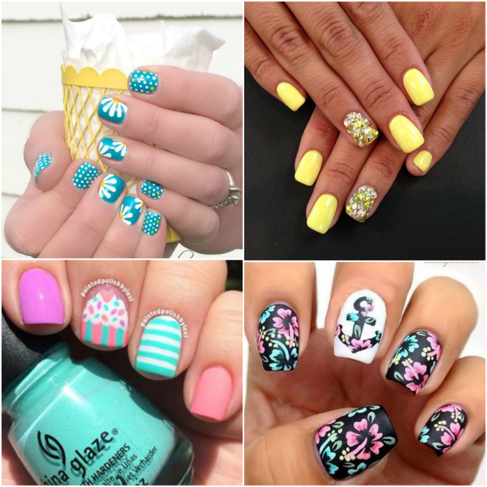 Floral Manicures For Spring And: 10 Spring Nails Ideas