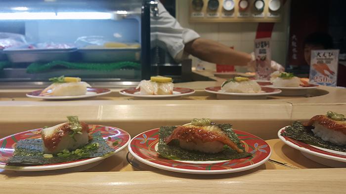 sushi train osaka japan
