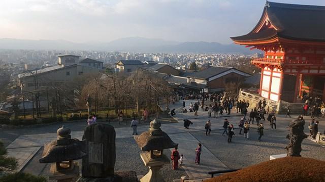 view of Kyoto from Kiyomizu Dera