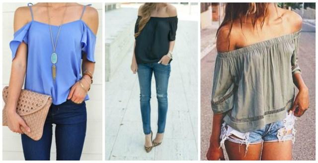 off the shoulder blouses