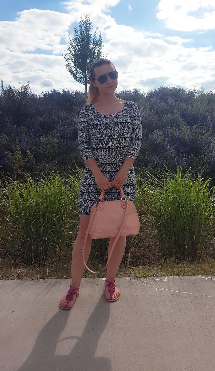 geometric print dress_front_