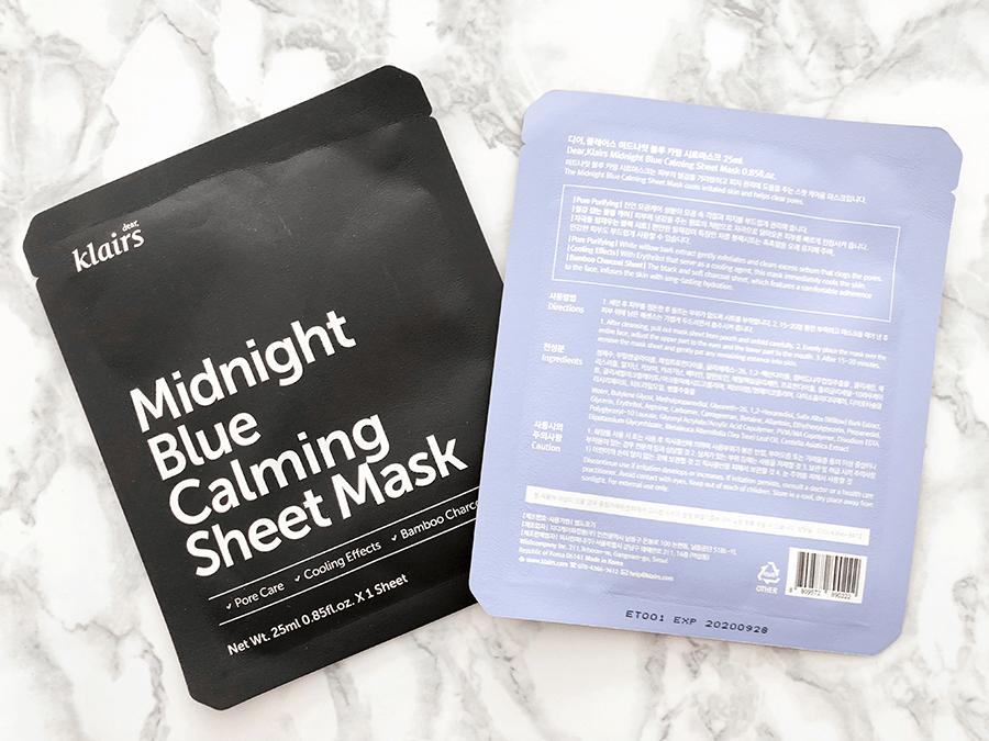 klairs midnight blue calming sheet masks_1