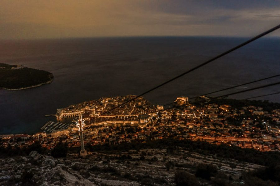 Best things to do in Dubrovnik_Cable Car by night
