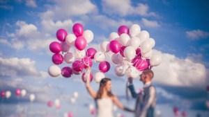 Ballons Hélium mariés