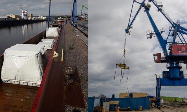 Schwer in Ordnung: Netzwerkmitglieder bringen Güter auf die Elbe