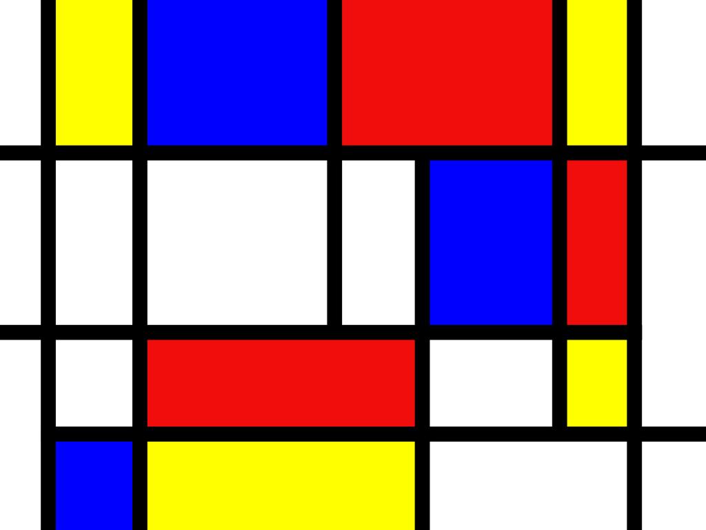 Descubre a Mondrian con estos 91 ejercicios de proporcionalidad geométrica con soluciones