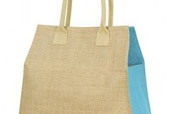 sacose iuta leisure-jute-bag dmensiuni 39 x 35 x 15 cm cu bleu