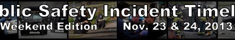 Public Safety weekend recap, Nov. 23-24, 2013