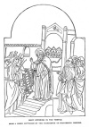 MARY OFFERING IN THE TEMPLE. FROM A GREEK DIPTYCHON OF THE THIRTEENTH OR FOURTEENTH CENTURY.