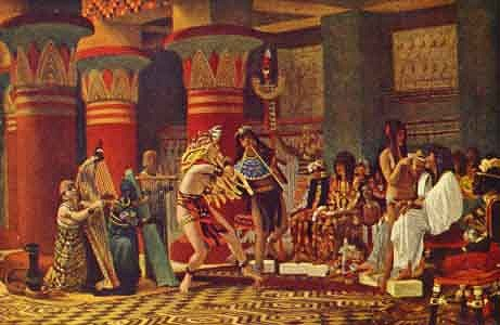 Pastime in Ancient Egypt, by Lawrence Alma-Tadema [19th c.] (Public Domain Image)