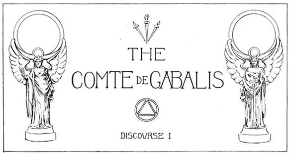 Comte de Gabalis: Discourse I