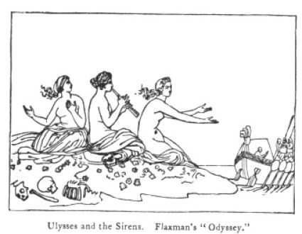 Ulysses and the Sirens. Flaxman's Odyssey.