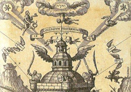Collegium Fraternitatis, from T. Schweighart, Speculum sophicum Rhodo-stauroticum [1604] (Public Domain Image)