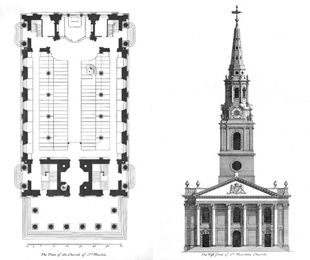 Soaring Steeple and Classical Portico [Saint Martin-in-the