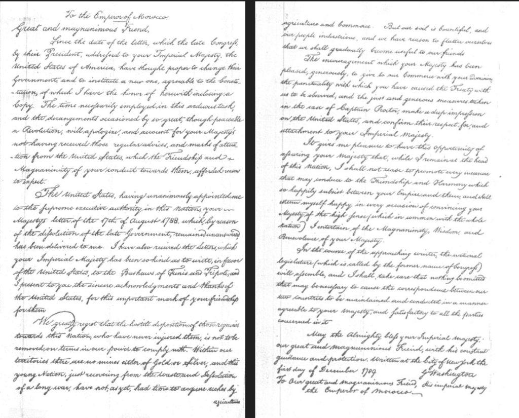 George Washington Letter Morocco