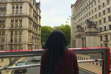 Hijab London bus