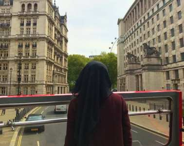 Hijab London bus