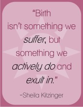 Birth isn't something we suffer