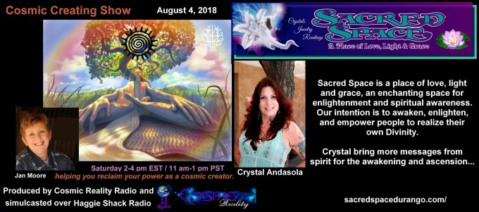 Interview on the Cosmic Creating Show 08/04/18