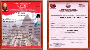 Sacred Valley Tour Certificates