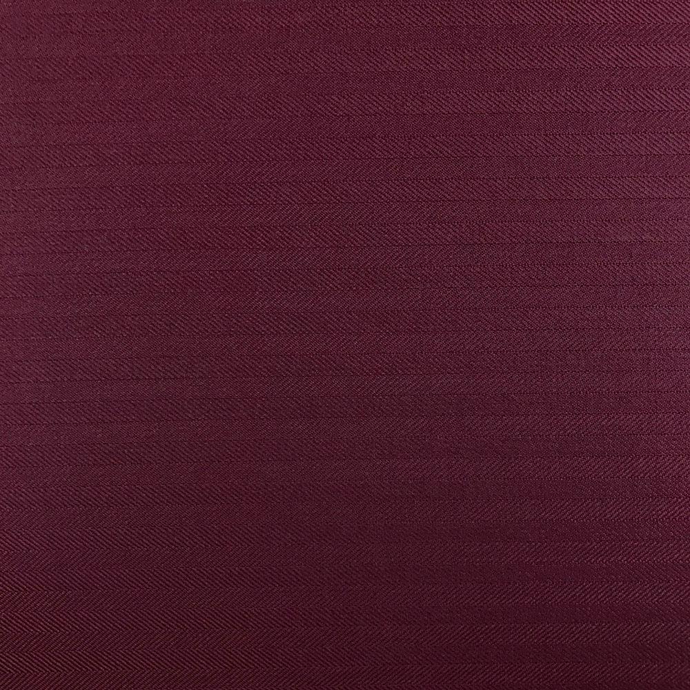 coupon de tissu drap de laine chevron lie de vin 3m x 1 50m