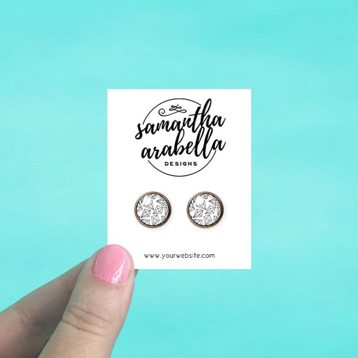 Rectangle Jewelry Cards