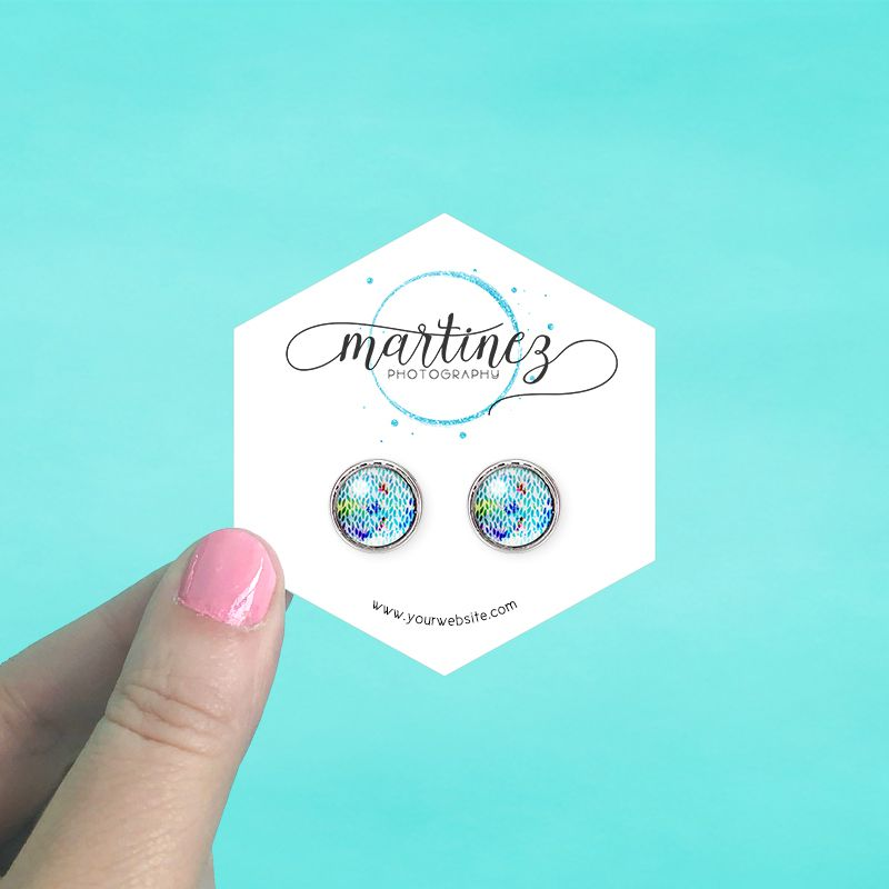 Hexagon Jewelry Cards