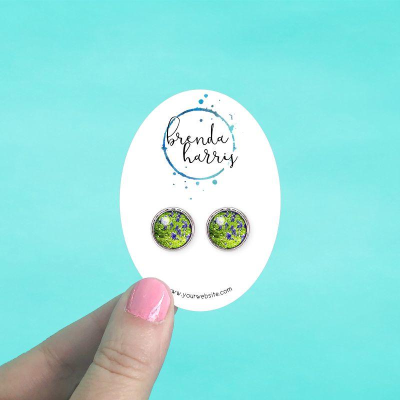 Oval Jewelry Cards