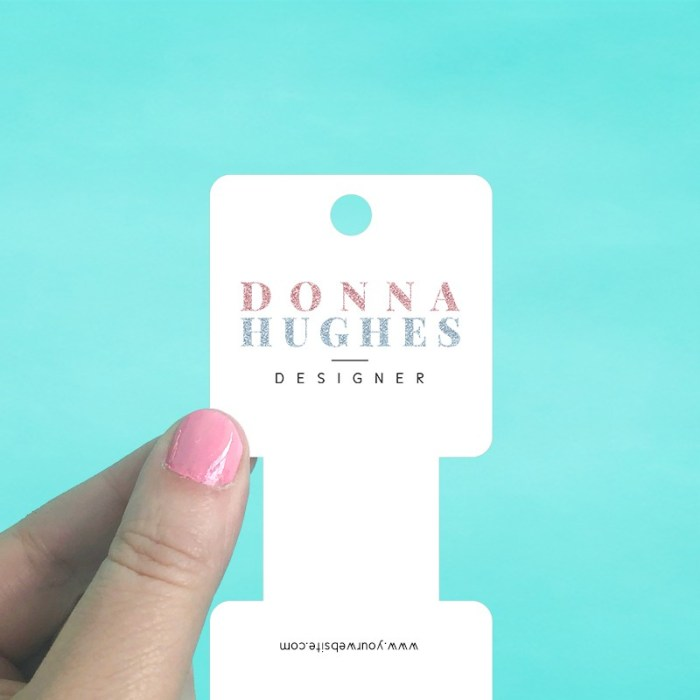 Rounded Square Fold Over Tag