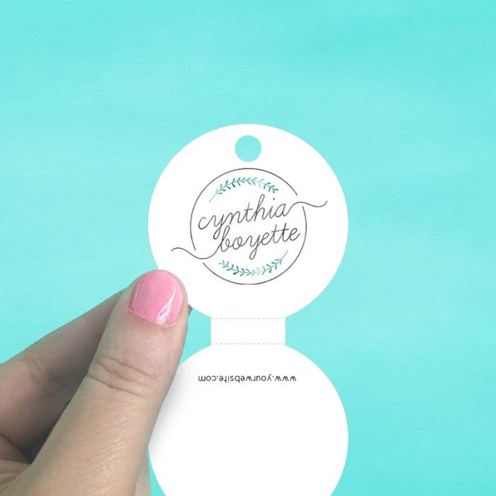 Circle Perforated Fold Over Tags