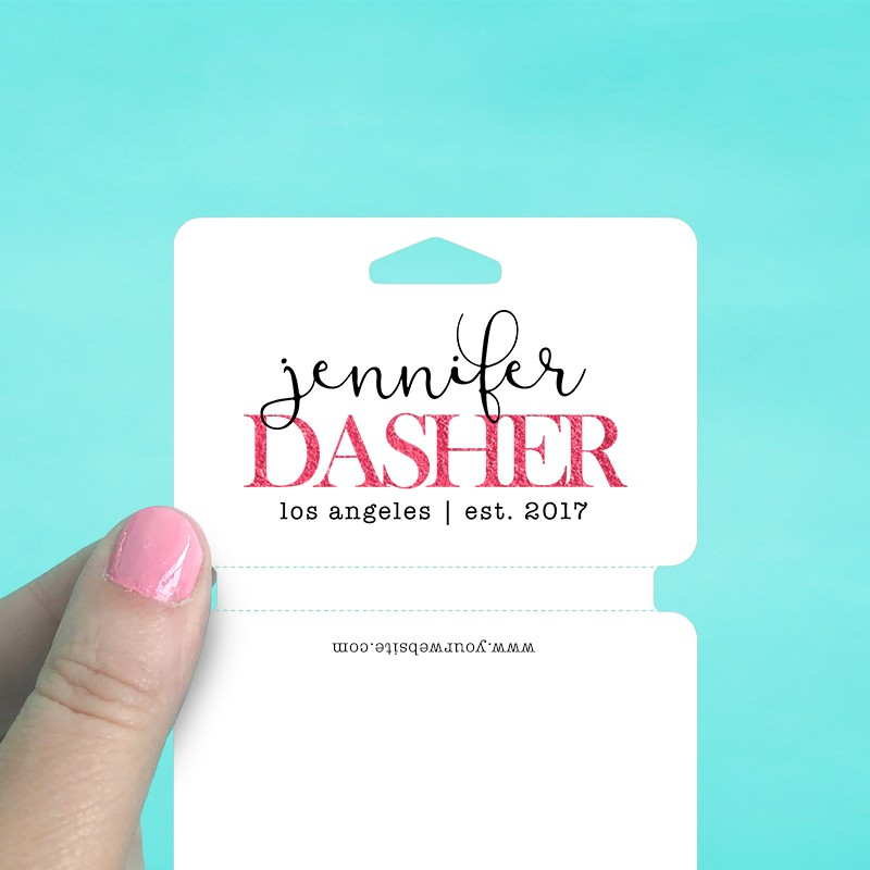 Large Perforated Fold Over Tags