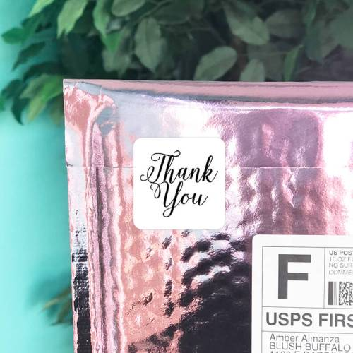 Elegant Thank You Stickers