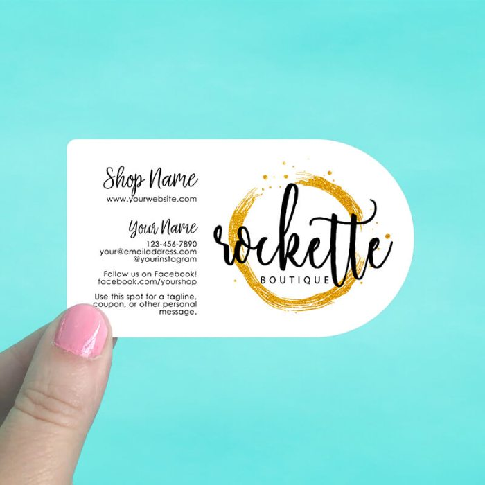 Half Circle Business Cards