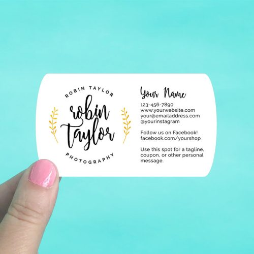 Oval Ends Business Cards