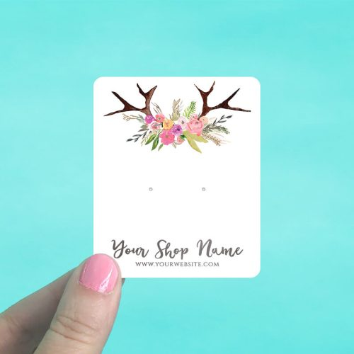 Antlers Bouquet Jewelry Display Cards