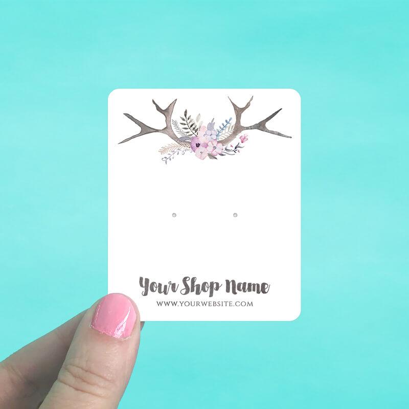Pastel Antlers Jewelry Display Cards